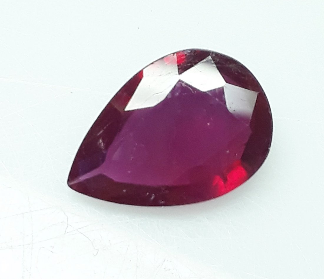 Natural Mozambique Ruby Pear - 3.97 ct.
