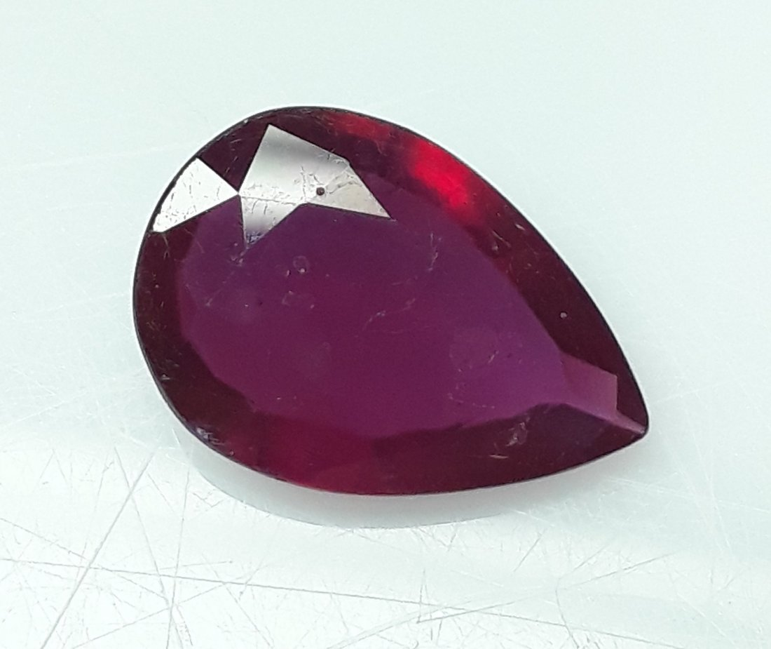 Natural Mozambique Ruby Pear - 3.97 ct. - 2