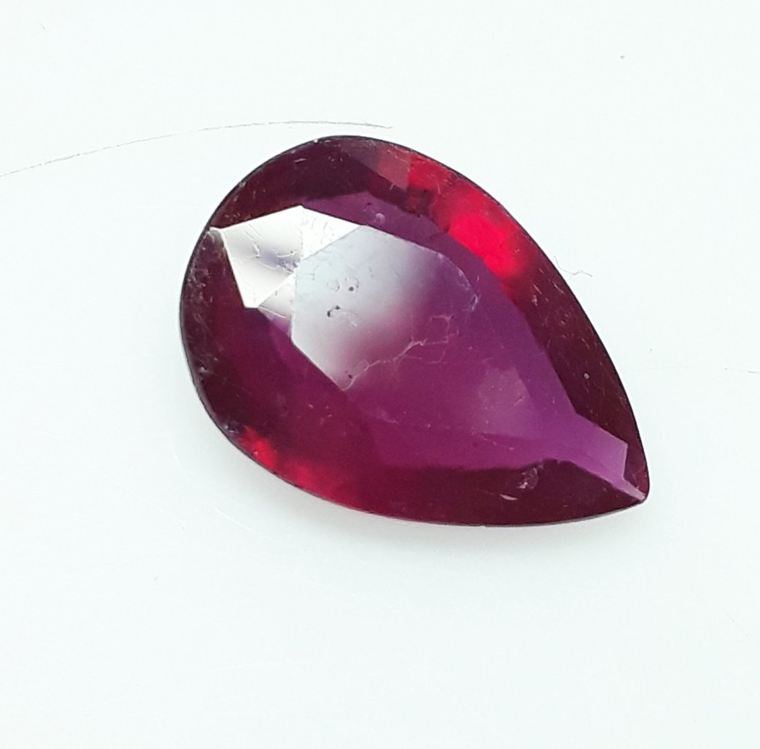 Natural Mozambique Ruby Pear - 3.97 ct. - 3