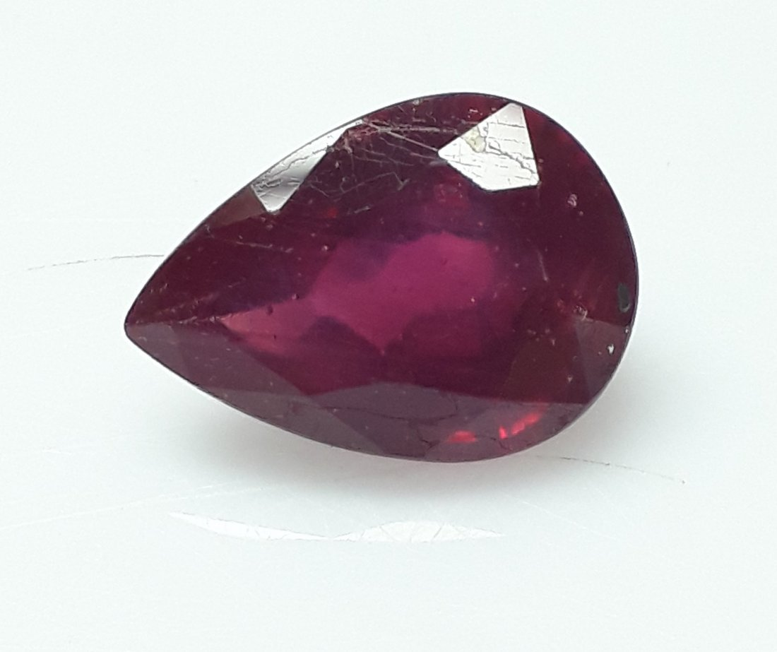 Natural Mozambique Ruby Pear - 5.56 ct. - 2
