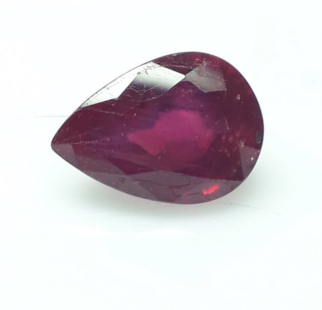 Natural Mozambique Ruby Pear - 5.48 ct. - 2