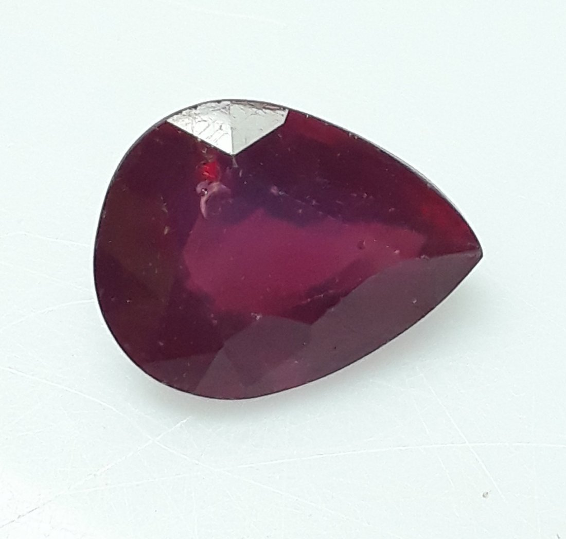 Natural Mozambique Ruby Pear Cut - 7.82 ct. - 3
