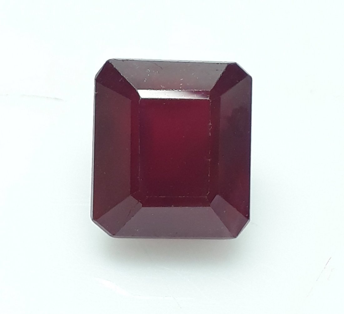 Natural Mozambique Ruby Emerald Cut - 6.18 ct.