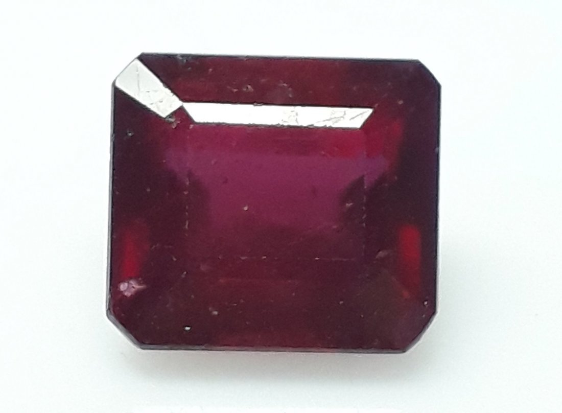 Natural Mozambique Ruby Emerald Cut - 6.29 ct.