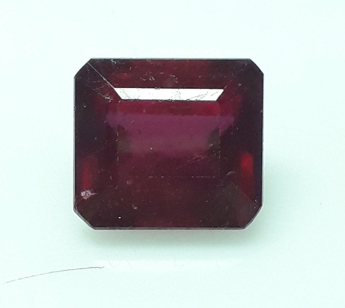 Natural Mozambique Ruby Emerald Cut - 6.29 ct. - 2