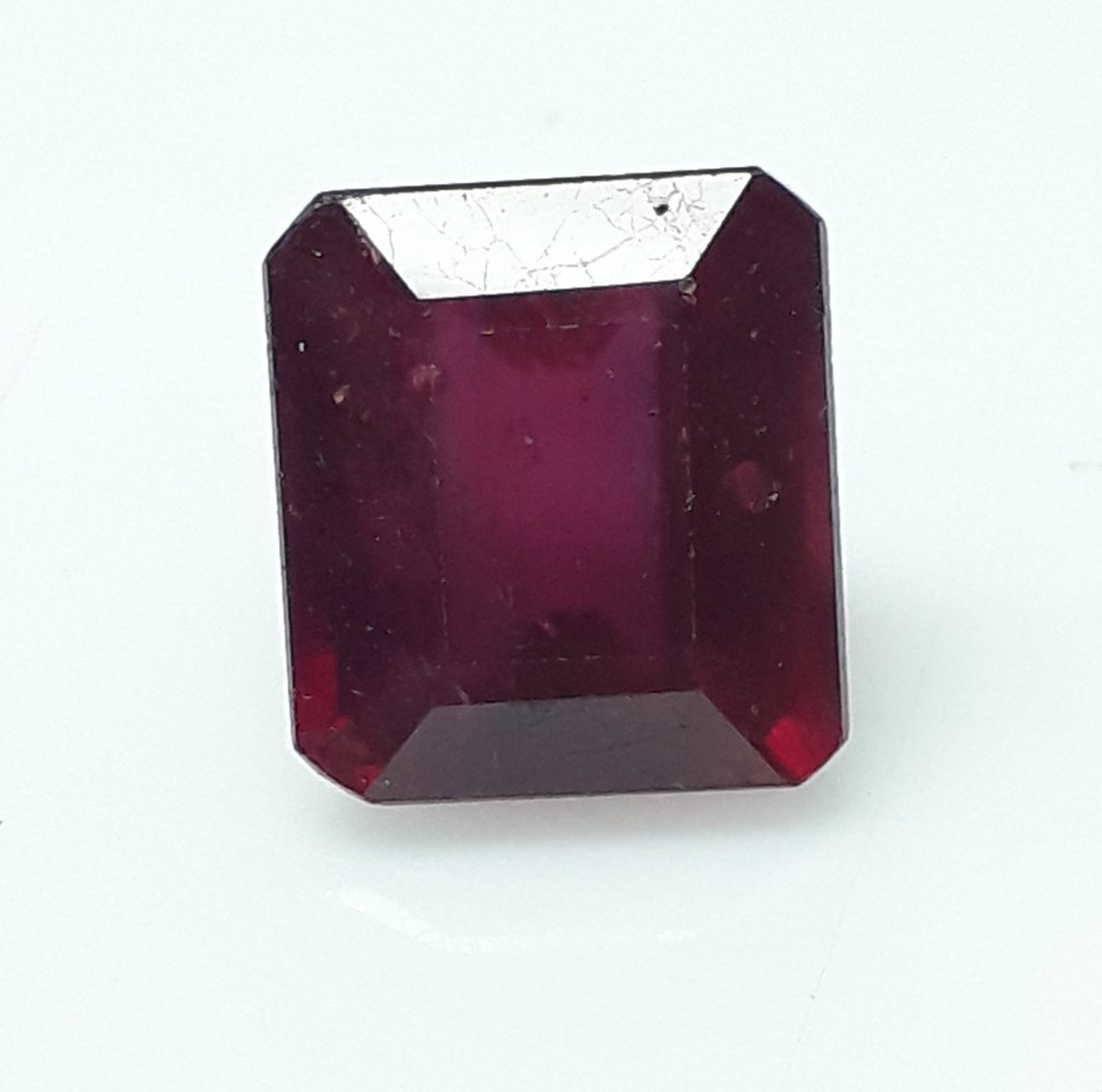 Natural Mozambique Ruby Emerald Cut - 6.29 ct. - 3
