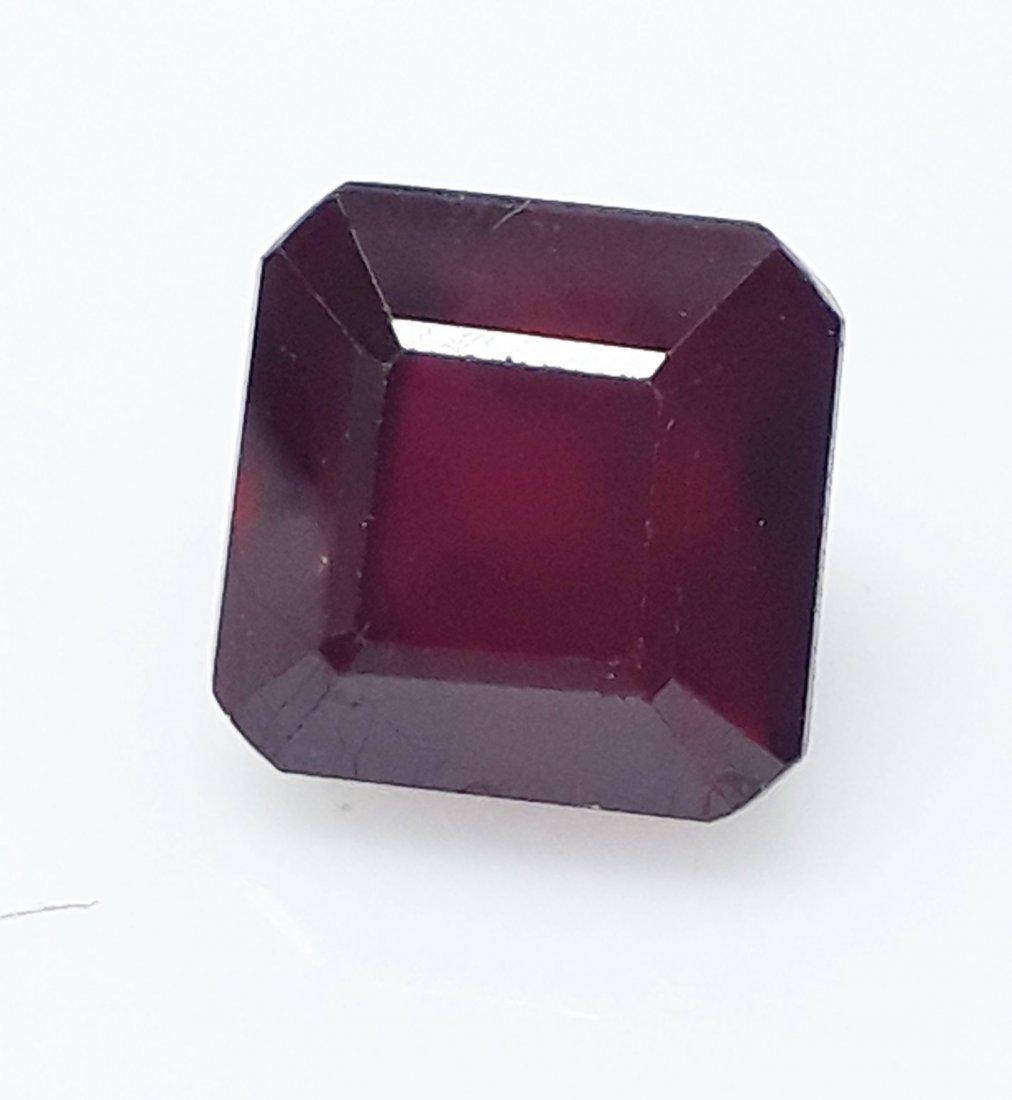 Natural Mozambique Ruby Emerald Cut - 3.60 ct.