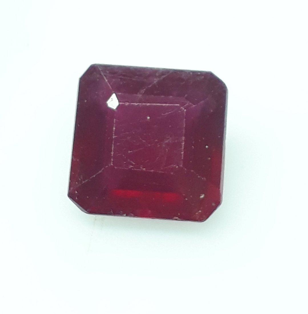 Natural Mozambique Ruby Emerald Cut - 4.03 ct. - 2