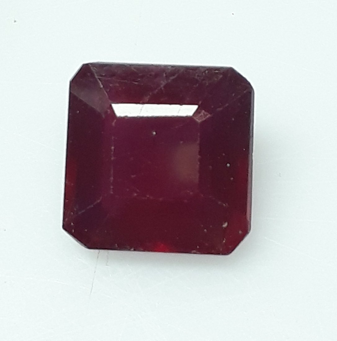Natural Mozambique Ruby Emerald Cut - 4.03 ct. - 3