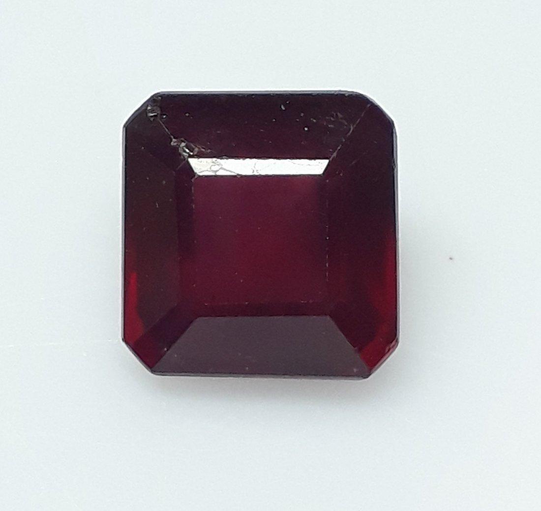Natural Mozambique Ruby Emerald Cut - 3.83 ct. - 2