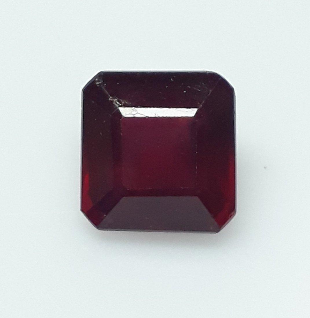 Natural Mozambique Ruby Emerald Cut - 3.83 ct. - 4