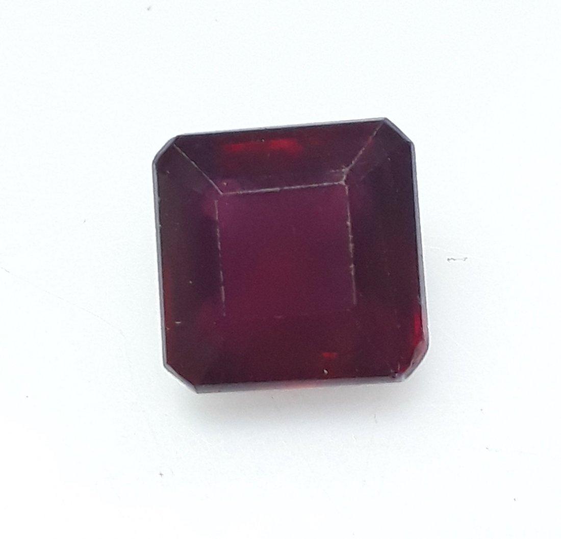 Natural Mozambique Ruby Emerald Cut - 3.58 ct.