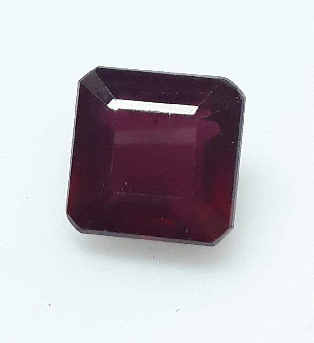 Natural Mozambique Ruby Emerald Cut - 3.58 ct. - 2