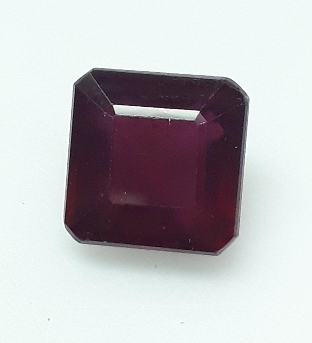 Natural Mozambique Ruby Emerald Cut - 3.58 ct. - 3