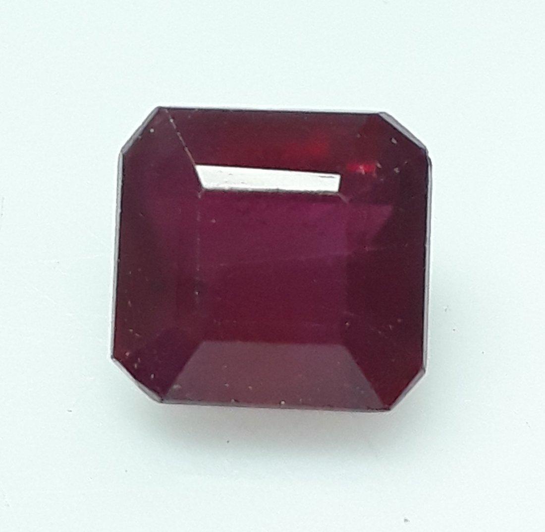 Natural Mozambique Ruby Emerald Cut - 3.72 ct. - 2