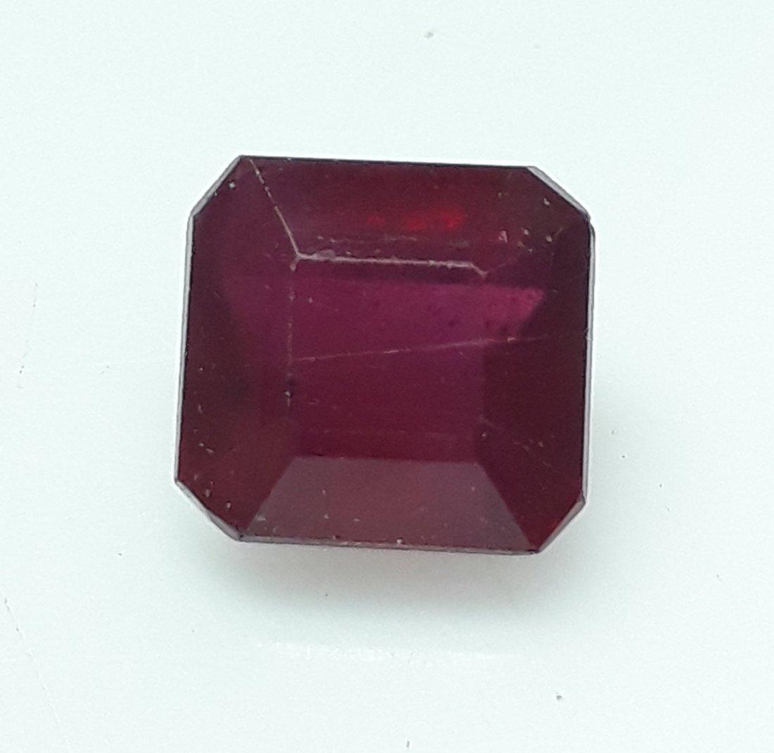 Natural Mozambique Ruby Emerald Cut - 3.72 ct. - 3