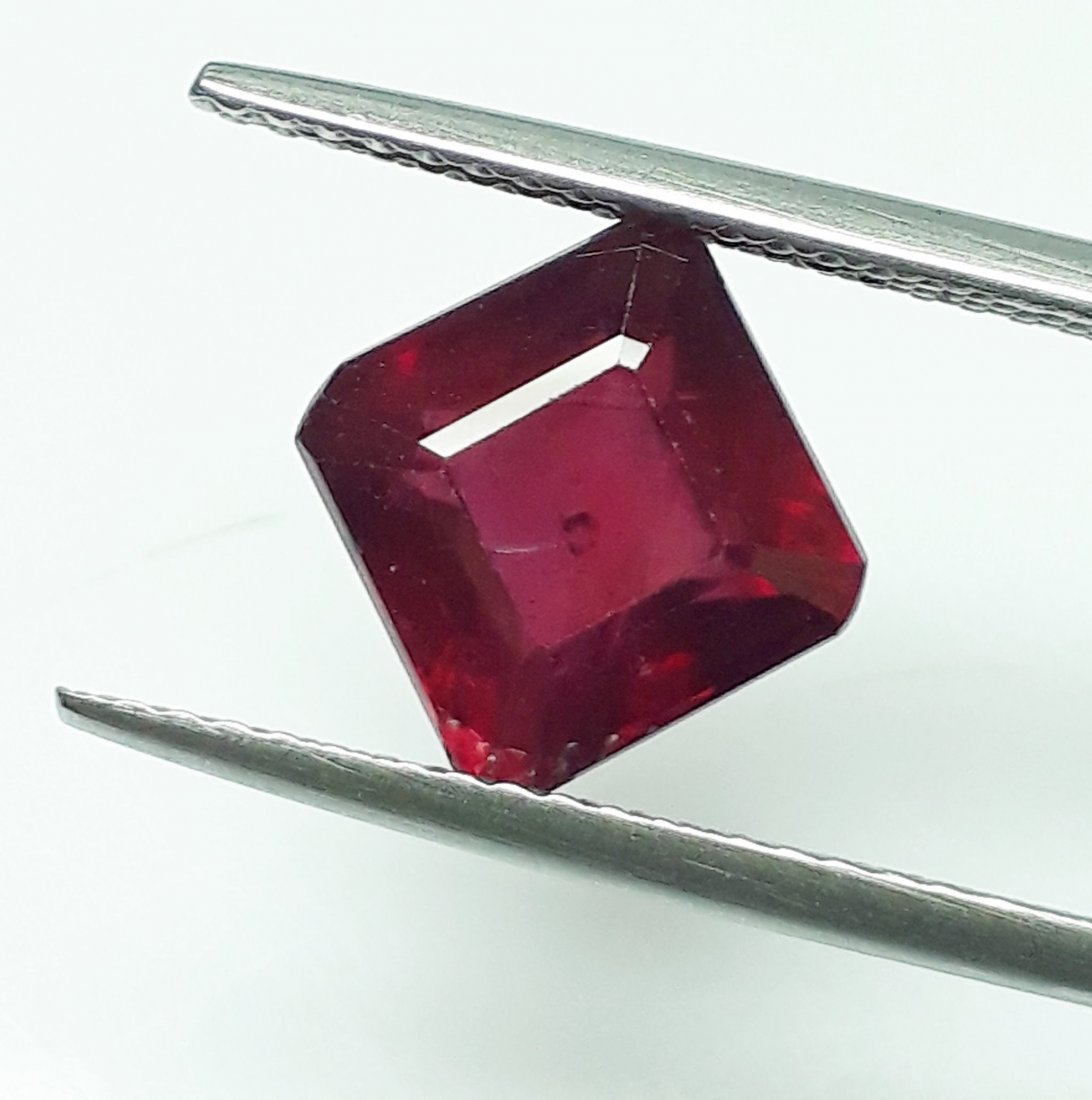 Natural Mozambique Ruby Emerald Cut - 2.93 ct.