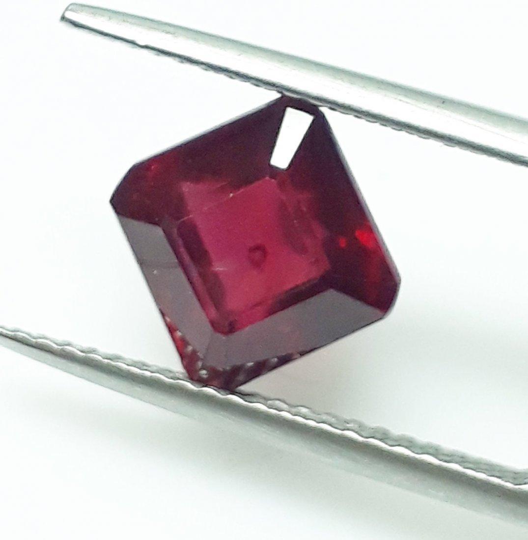 Natural Mozambique Ruby Emerald Cut - 2.93 ct. - 2