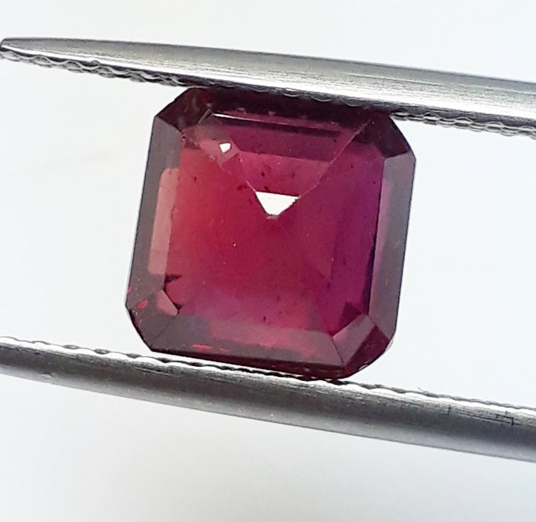 Natural Mozambique Ruby Emerald Cut - 3.24 ct. - 4