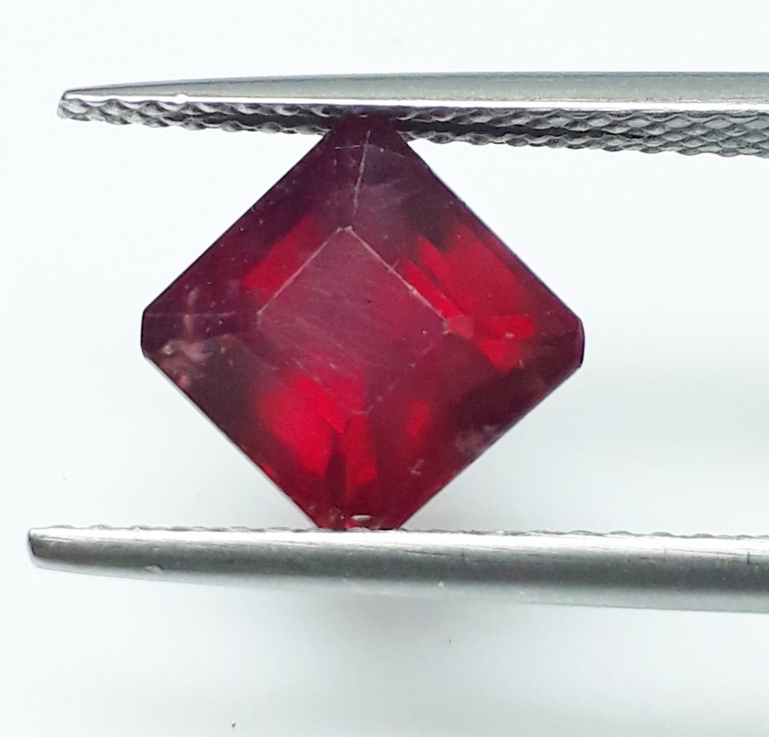 Natural Mozambique Ruby Emerald Cut - 2.79 ct. - 2