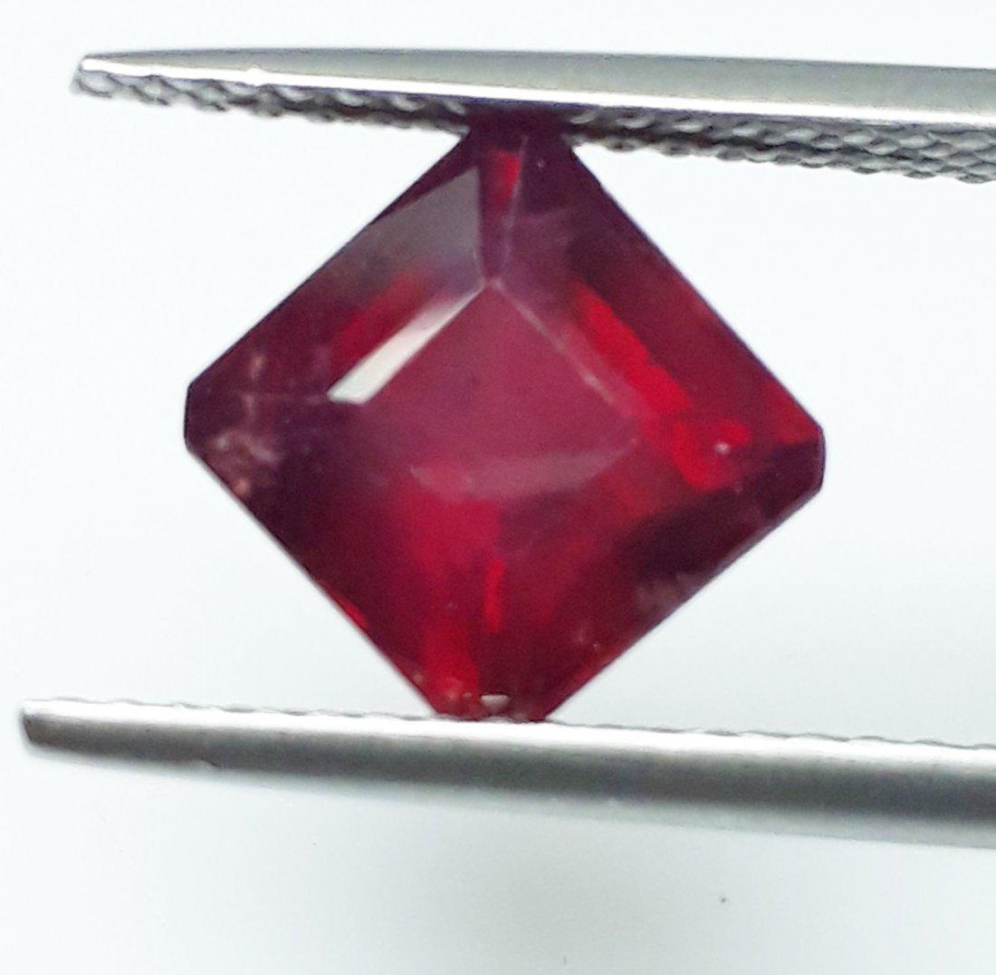 Natural Mozambique Ruby Emerald Cut - 2.79 ct. - 3
