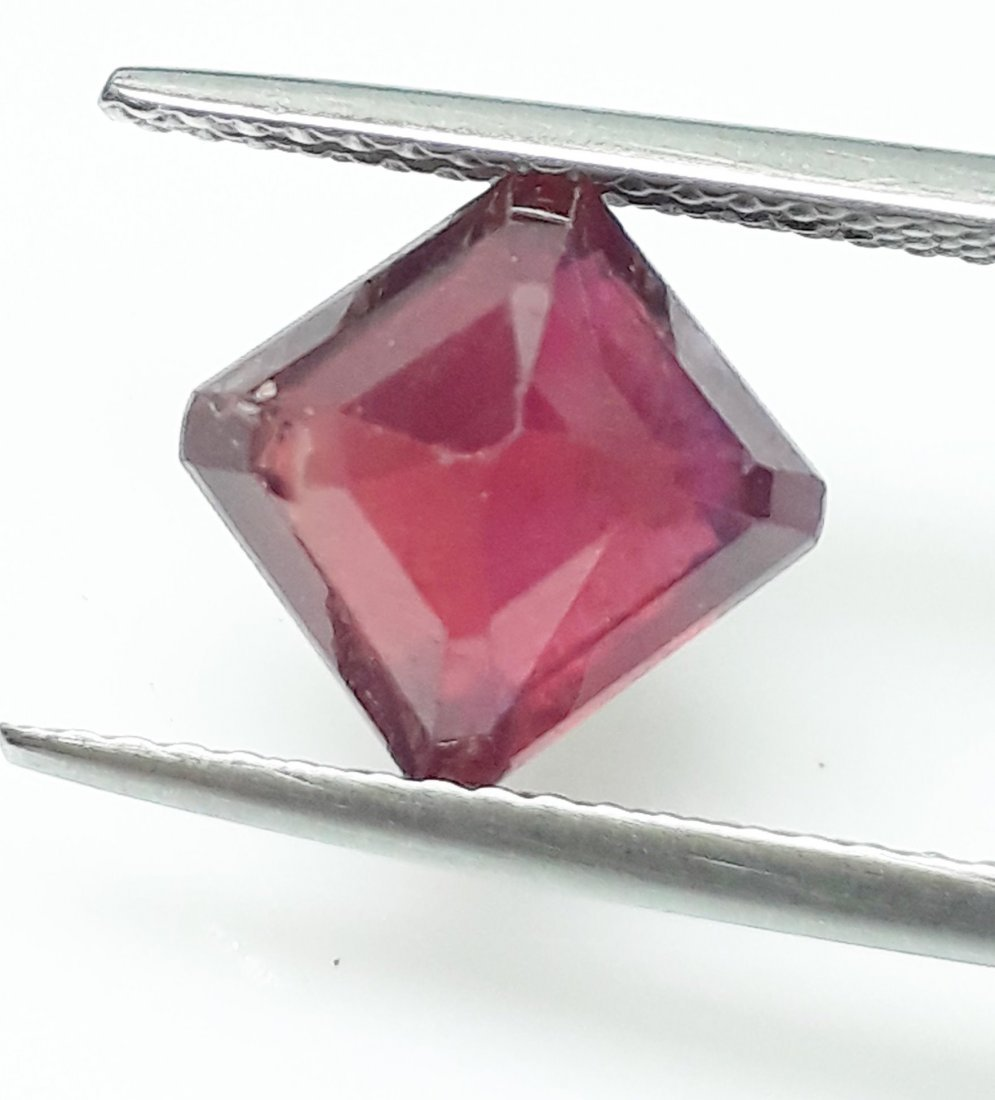 Natural Mozambique Ruby Emerald Cut - 2.79 ct. - 4