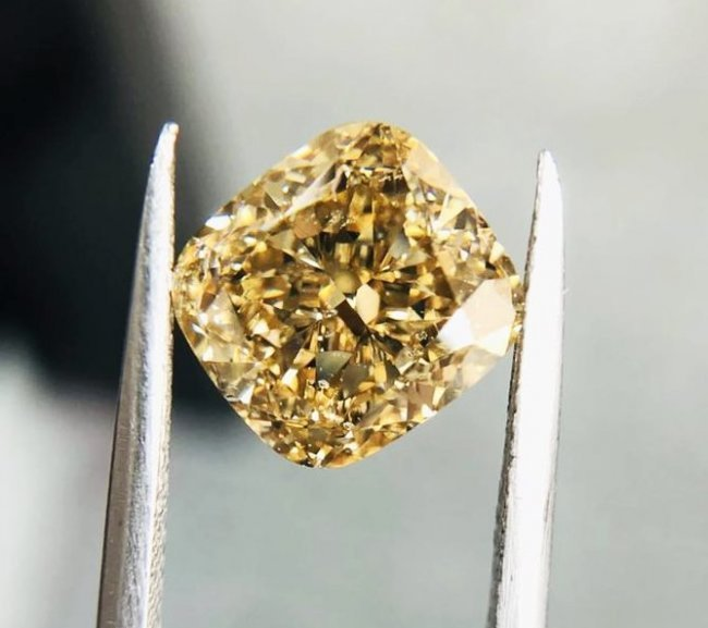 Fancy Brown Yellow Diamond - 6.06 ct. GIA Cert.