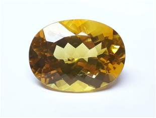 Natural Yellow Brazilian Citrine Oval Cut 4312 ct