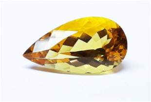 Natural Yellow Brazilian Citrine Pear Cut 356 ct