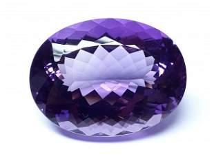 Natural Purple Brazilian Amethyst Oval 12184 ct