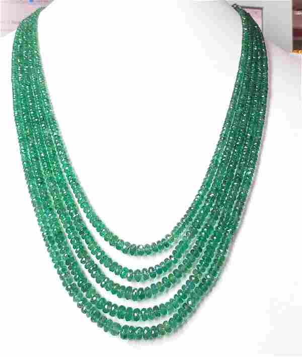 Natural Emerald Facet Necklace - 235 ct.