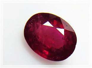 Natural Mozambique Ruby 284 ct Oval