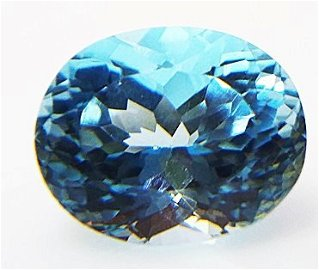 Natural Blue Topaz - 3.86 ct.   Oval Cut