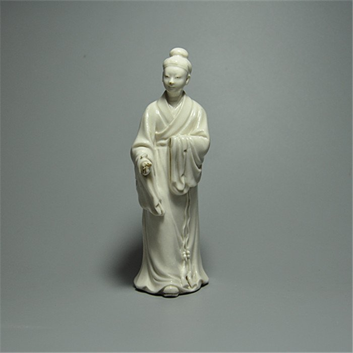 Fine Old Chinese Blanc De Chine Porcelain Statue