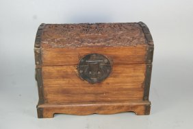 Fine Old Chinese Rosewood Carved Jewelry Box
