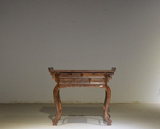 Precious Old 18th Chinese Huanghuali Wood  Side Table