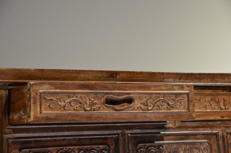 Precious Old 18th Chinese Huanghuali Wood  Side Table - 5