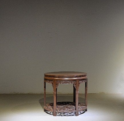Fine Old Chinese Divisible Rosewood Round Table