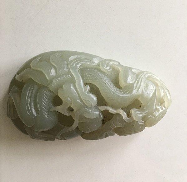 Fine Antique Chinese White / Celadon Jade Pendant