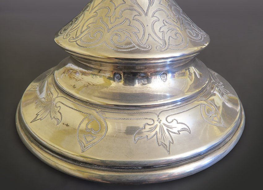 French Silver And Cut Crystal Cake Stand - 5