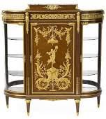 Gilt Bronze Mahogany Vitrine Cabinet Attr. F. Linke