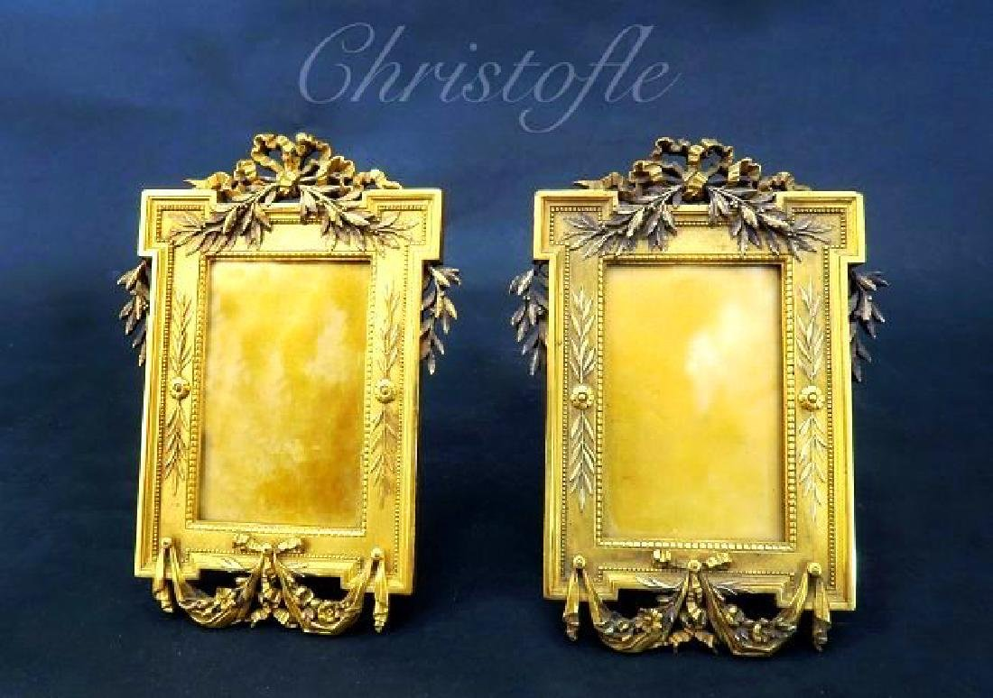Fine 19th C. Gilded Bronze Frames Signed Christofle