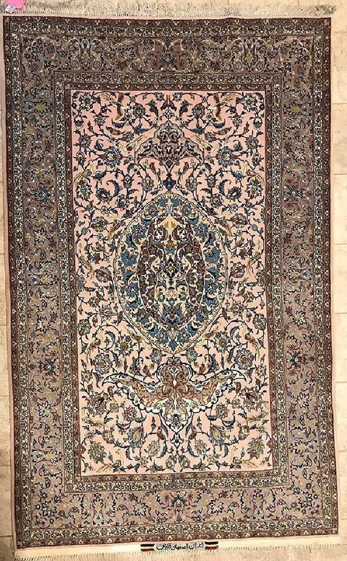 Persian Isfahan Rug signed By Master Akbaroff