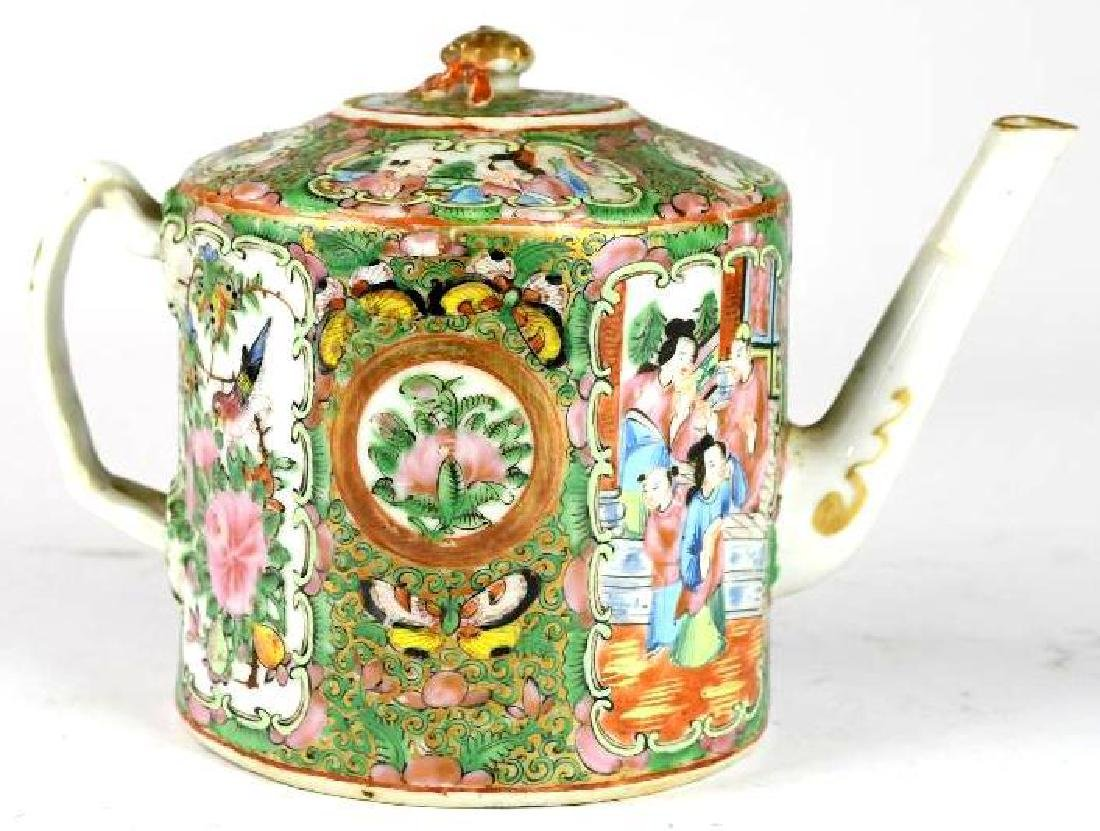 Chinese Famille Rose Canton Tea Pot