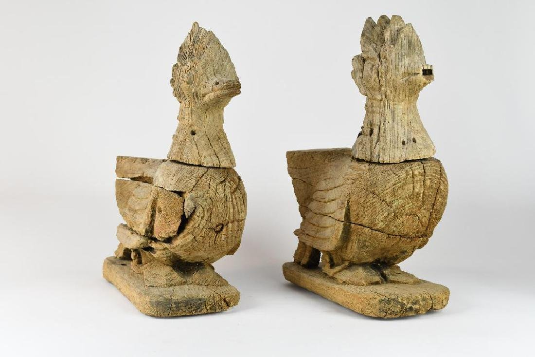 Pair of Carved Wood Ducks
