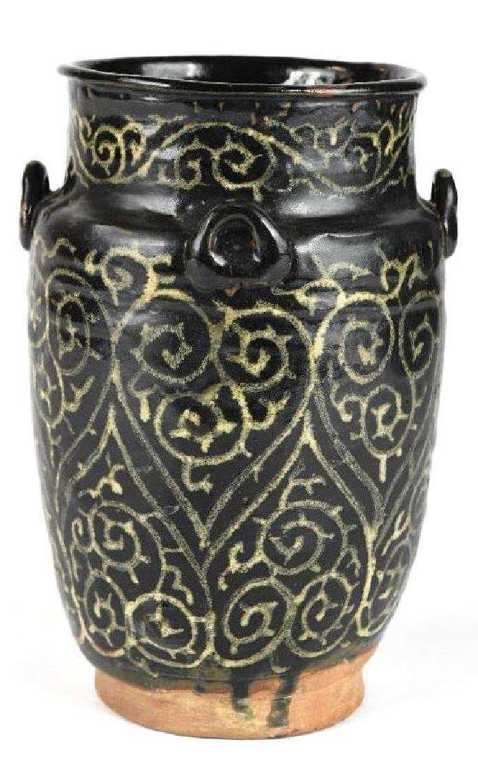 Chinese Black Glaze pottery Vase