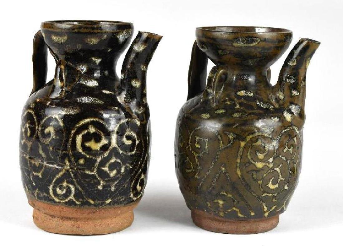 Two Chinese Pottery Ewers