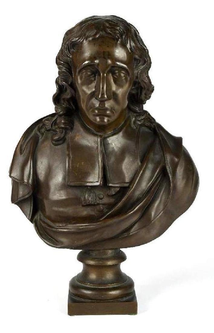 F. Barbedienne Fondeur Bust of a Man