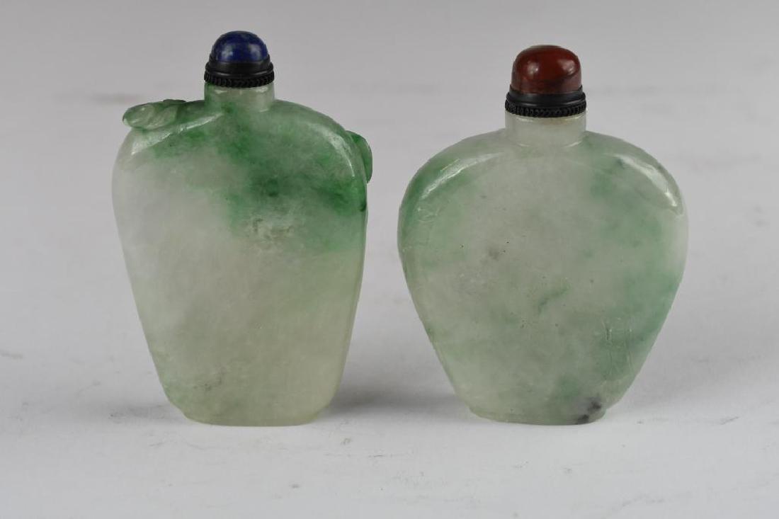 Two Jadeite Snuff Bottles