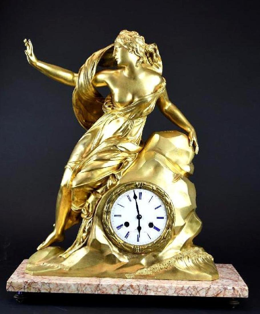 Marble & Gilt Mantle Clock
